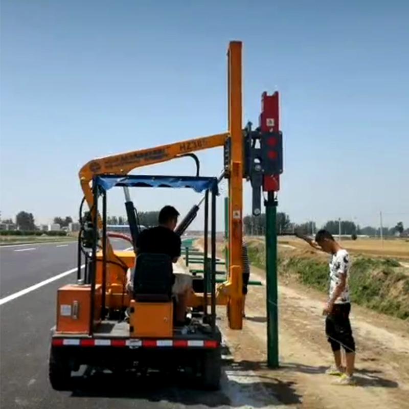 公路打桩机施工视频